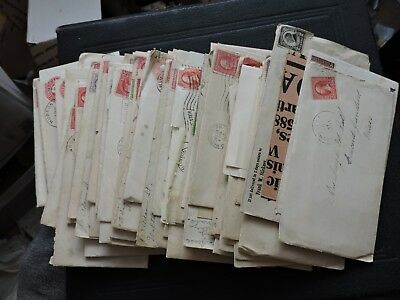 BIG LOT x60 BALL FAMILY 1900s LETTERS +STAMP COVERS ! CONCORD JUNCTION MA+ L@@K!