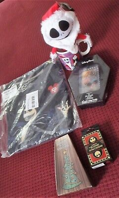 Lot of Disney Nightmare Before Christmas Collectibles Pins Tee Cards Plush New