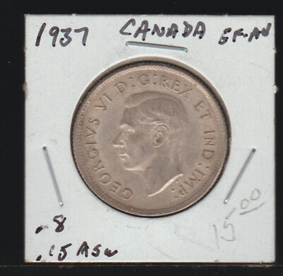 Canada 25 Cents, 1937