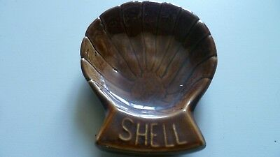ancien cendrier publicitaire shell ,huile,station service - advertising ashtrays