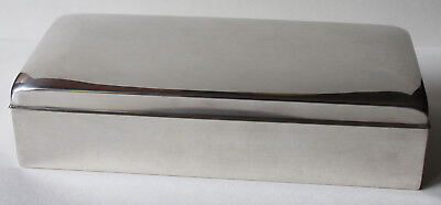 Poole Silver Plated Cigarette, Trinket, Wooden Lined Box No. 2001