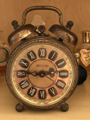 Vintage West German BLESSING Double Bell Alarm Clock 1960's