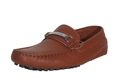 6bfc2002e40151 Lacoste Men s Leather Loafers Ansted 318 1 U Cam Tan 7-36CAM008005B Medium  (D