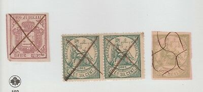 Spain Antillies and or Puerto Rico Cinderella Revenue Fiscal Stamp - 8-15-15
