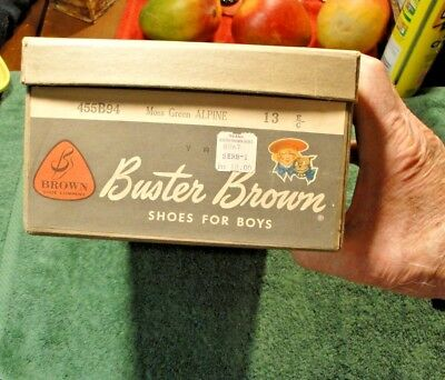Vintage Buster Brown Shoe Box In Excellent Condition