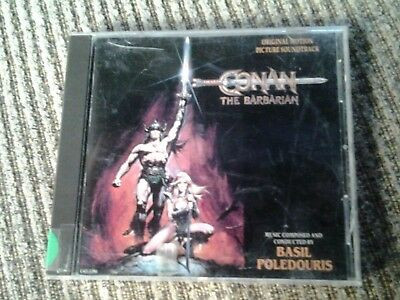 Conan the Barbarian CD 1982 ORIGINAL SOUNDTRACK Basil Poledouris OOP USED