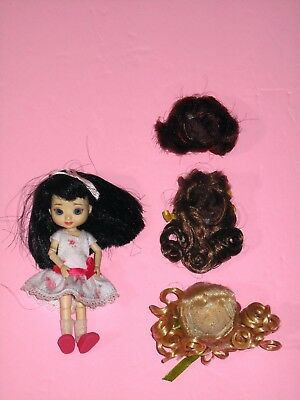 """Tonner Wilde - Basically Amelia Thimble 4"""" Resin BJD Doll with Wigs"""