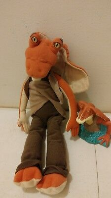 "Star Wars Episode 1 Stuffed Plush Jar Jar Binks 13"" New w/ Tags Applause Toy"