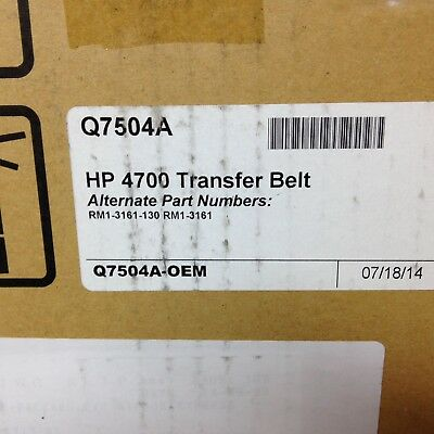 Hp Q7504a transfer belt Rm1-3161 for 4700 and 4730 Printers Genuine Oem