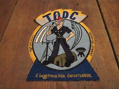 Old Vintage Tadc Radio  Announcer Patch Possible Military Swami Airways