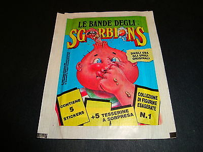 ☆ Rare 1990 Garbage Pail Kids Italian Sgorbions Series 1 Sealed Pack GPK ☆