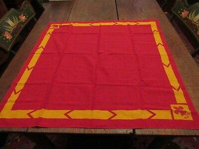 Vintage Boy Scout Bsa Red Yellow Neckerchief Scarf