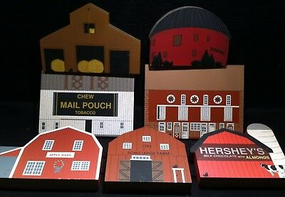 The Cat's Meow Shelf Sitters ~ Lot of American Barn Series Hershey's Silo Hay