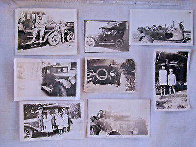 8 X vintage original photos of old cars ca 1920's - 1930...sold as 1 Lot