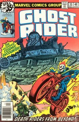 Ghost Rider (1st Series) #33 1978 FN- 5.5 Stock Image Low Grade