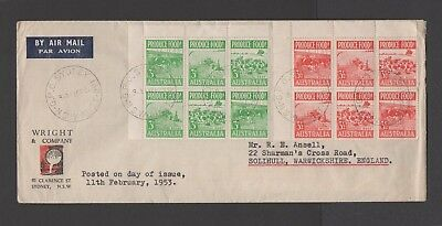 Australia Stamps - 1953 Produce Food FDC