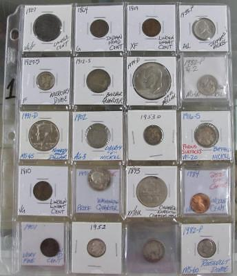 Lot Of 20 Old American Type Coins! Silver Included! Something For Everyone! #1