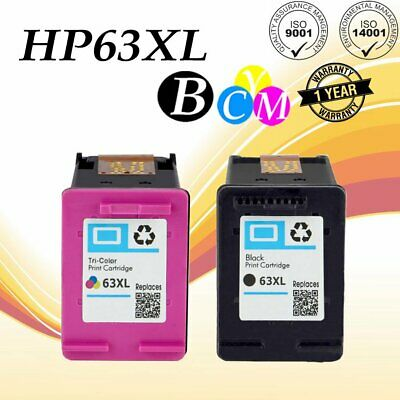 2x 63 XL Printer Ink for HP OfficeJet 3830 3831 3832 3834 4650 4652 4655 Combo