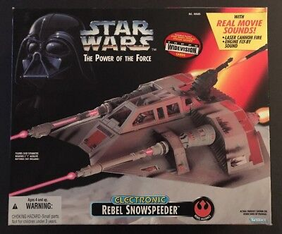 Star Wars POWER OF THE FORCE ELECTRONIC REBEL SNOWSPEEDER - NEW