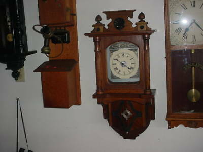 German Wall Clock With Gilbert 8 Day Time And Strike,nice, Marriage