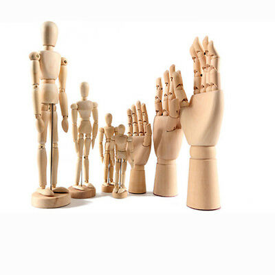 Wood Hand Body Artist Model Jointed Articulated Wood Sculpture Mannequin Wooden