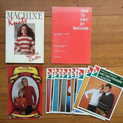Knitting machine books and Pattern booklets