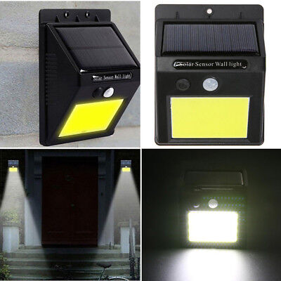 7B33 48 LED Solar Power Motion Sensor Wall Light Outdoor Waterproof Garden Lamp