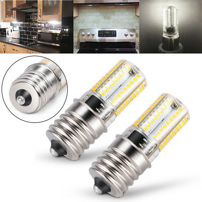 2x E17 LED Bulb Microwave Oven Light Dimmable 4W Natural White 6000K Light New