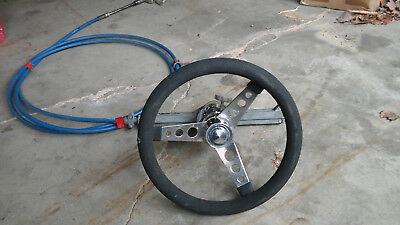 1975 chris craft lancer steering wheel with cable