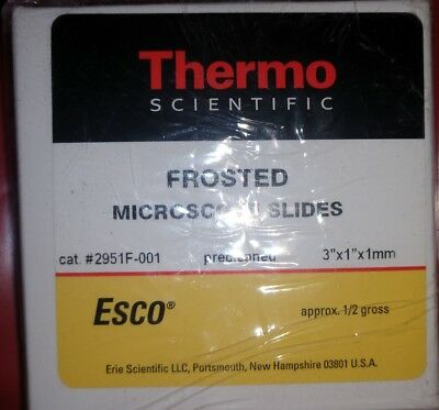 2 Box approx 1/2 gross Thermo Scientific Frosted Microscope Slides Cat 2951F-001