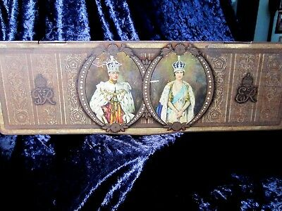 ANTIQUE ROYAL COMMERATIVE TIN EDWARD VIIl  CORNATION  1937 BEE BEE BISCIUT CO.