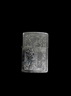 Vintage Ornate Flower & Leaf Design Engraved Zippo Lighter
