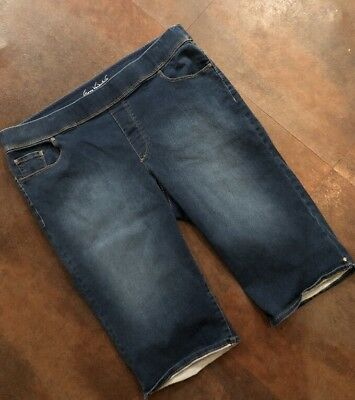 Women's GLORIA VANDERBILT Avery Pull On Jean Capris Size 16W