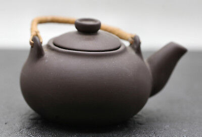 A Beautiful Very Nicely Made  Old Chinese Yixing Zisha Teapot With Cane Handle