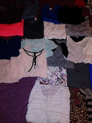 Juniors / Womens Size Small Clothing Lot Tops . Forever 21 Aeropostale Aerie Etc
