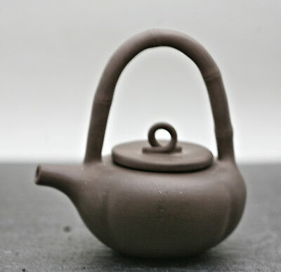 Vintage Miniature Chinese Yixing Zisha Teapot Made & Stamped By Master 周玉