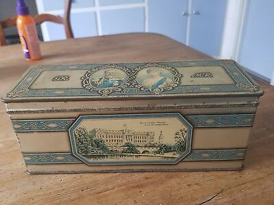 KING GEORGE V & QUEEN MARY 1910-1935 Silver Jubilee vintage tin