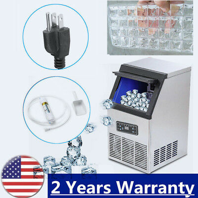 50KG/Day Commercial Ice Cube Maker Machine Portable Automatic Home Business Top