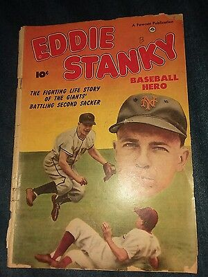Eddie Stanky (1951) #nn FR/gd 1.5 fawcett comics golden age baseball photo cover