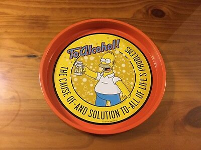 Collectable Homer Simpson Drinks Tray.