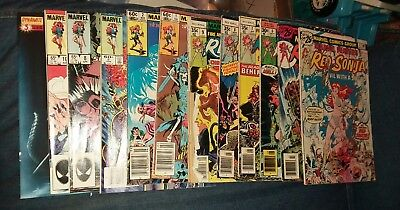 red sonja 12 issue bronze age marvel comics lot run set movie collection conan
