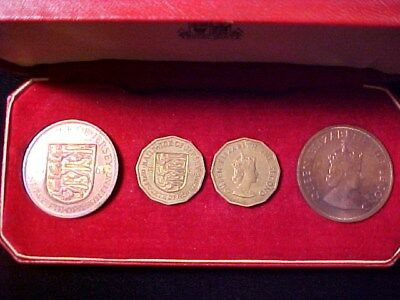 Jersey 4-Coin Proof Set 1964 Nice In Royal Mint Case