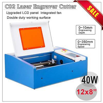 Preenex 40W CO2 Laser Engraver Cutting Machine Crafts Cutter USB Interface DIY
