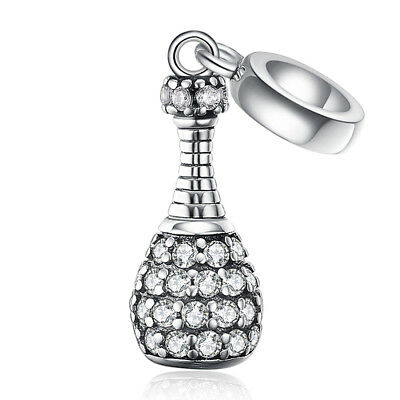 3331f389c JewelryPalace Bottle Cubic Zirconia 925 Sterling Silver Charm Dangle Pendant