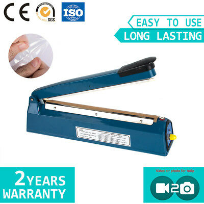 SF300 Manual Heat Impulse Sealer Sealing Poly Plastic Bag Machine 3-5 Delivery
