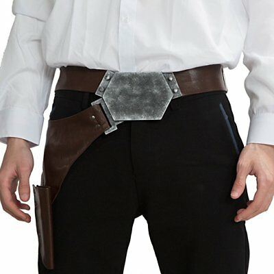 Han Solo Costume Leather Belt Holt Star Wars Dress Up Adult Clothing Replica New