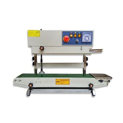 Vertical Band Sealer Automatic Continuous Plastic Bag Sealing Machine with Print