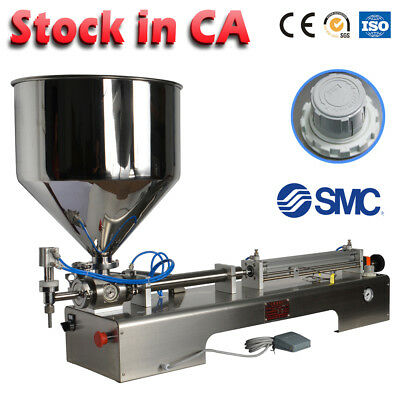 50-500ml Paste filling machine pneumatic honey cream shampoo sauce piston filler