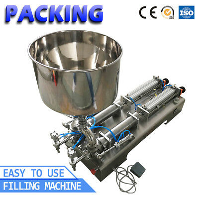 50-500ml Doubel heads Cream Shampoo Pneumatic Paste Filling Filler Machine