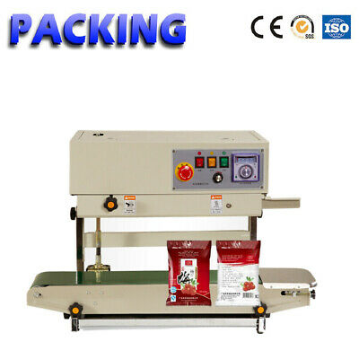 FR-900Continuous Plastic Bag Band Sealing Machine Sealer With Date Coding Device
